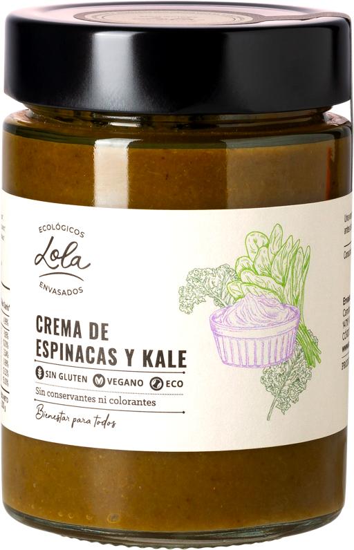 Crema de espinacas y kale (ECO – BIO)