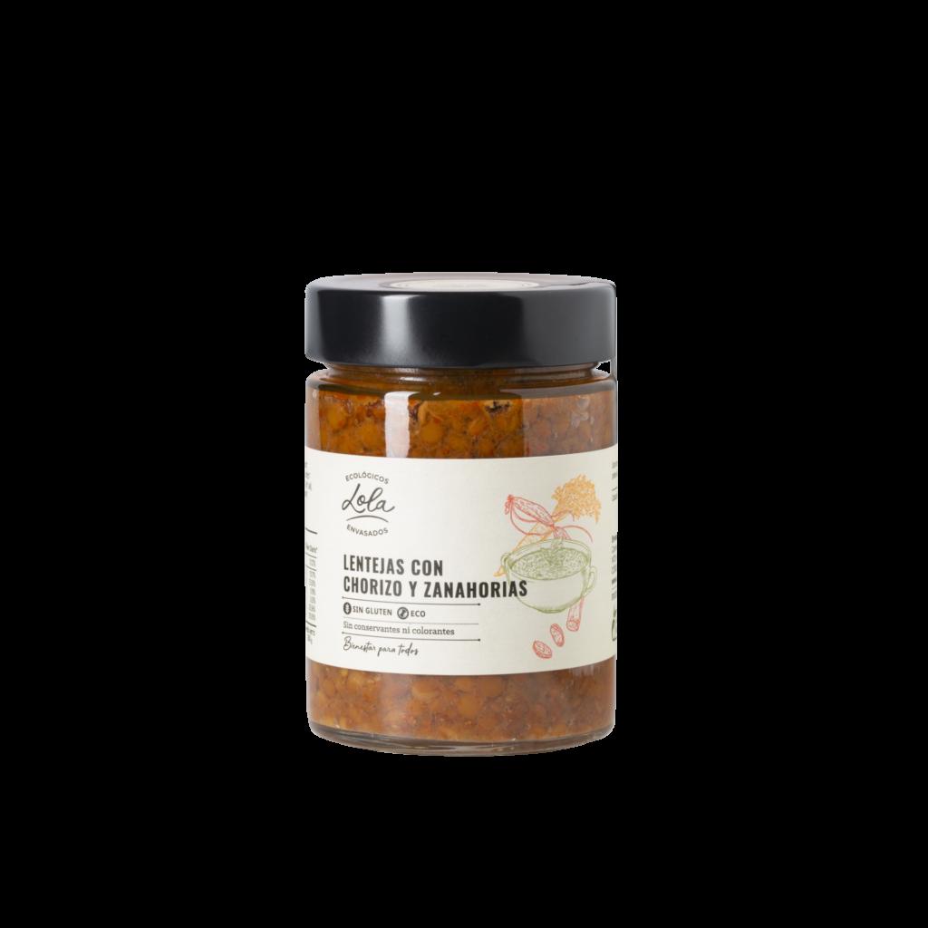 Lentejas con chorizo y zanahorias (ECO – BIO)