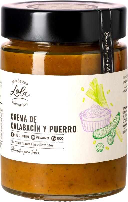 Crema de calabacín y puerro (ECO – BIO)